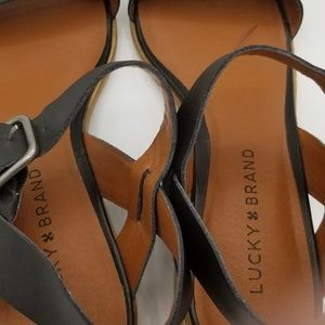 Lucky Brand Shoes - Lucky Brand Women's Toni Sandal Black Leather